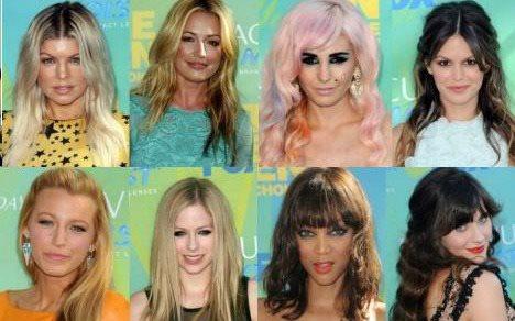 Hairstyles @ teen choice Awards August 2011