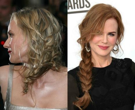 Diane Kruger plait Nicole Kidman braid