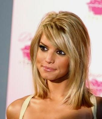 Jessica Simpson Medium Length Hairstyle 2012